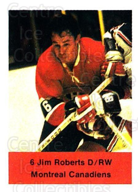 1974-75 NHL Action Stamps #161 Jim Roberts<br/>1 In Stock - $3.00 each - <a href=https://centericecollectibles.foxycart.com/cart?name=1974-75%20NHL%20Action%20Stamps%20%23161%20Jim%20Roberts...&quantity_max=1&price=$3.00&code=713496 class=foxycart> Buy it now! </a>