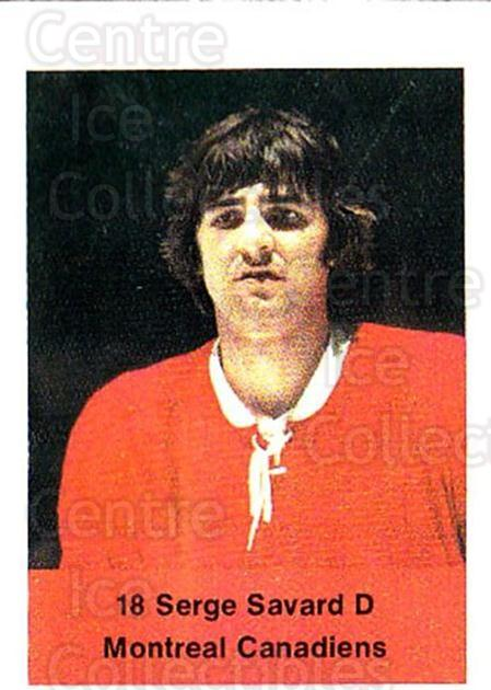 1974-75 NHL Action Stamps #162 Serge Savard<br/>1 In Stock - $3.00 each - <a href=https://centericecollectibles.foxycart.com/cart?name=1974-75%20NHL%20Action%20Stamps%20%23162%20Serge%20Savard...&quantity_max=1&price=$3.00&code=713497 class=foxycart> Buy it now! </a>