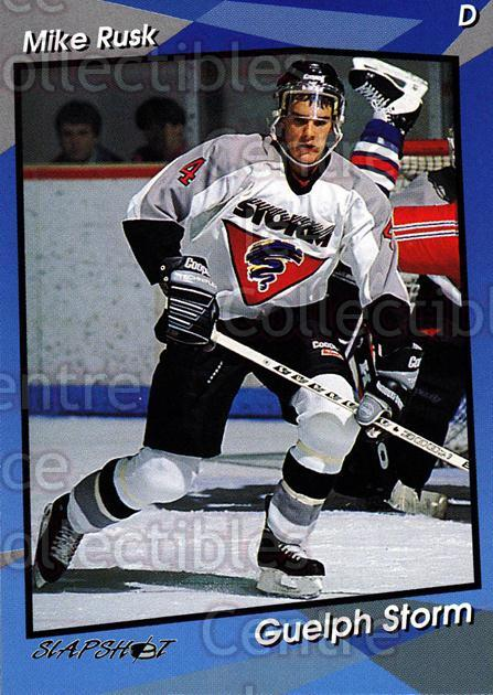 1993-94 Guelph Storm #6 Mike Rusk<br/>5 In Stock - $3.00 each - <a href=https://centericecollectibles.foxycart.com/cart?name=1993-94%20Guelph%20Storm%20%236%20Mike%20Rusk...&quantity_max=5&price=$3.00&code=7134 class=foxycart> Buy it now! </a>
