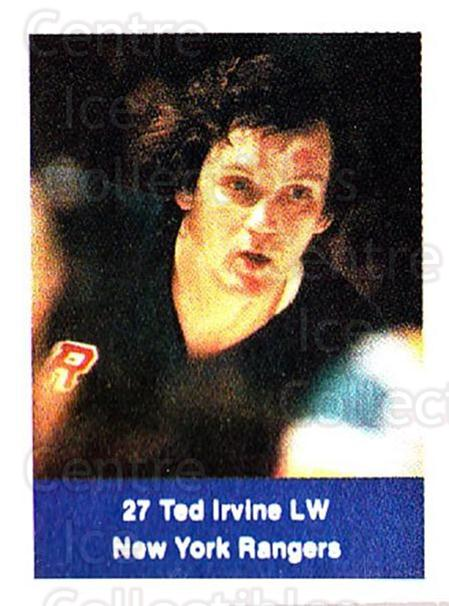 1974-75 NHL Action Stamps #195 Ted Irvine<br/>1 In Stock - $3.00 each - <a href=https://centericecollectibles.foxycart.com/cart?name=1974-75%20NHL%20Action%20Stamps%20%23195%20Ted%20Irvine...&quantity_max=1&price=$3.00&code=713530 class=foxycart> Buy it now! </a>