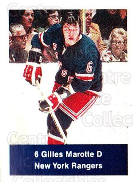 1974-75 NHL Action Stamps #197 Gilles Marotte<br/>1 In Stock - $3.00 each - <a href=https://centericecollectibles.foxycart.com/cart?name=1974-75%20NHL%20Action%20Stamps%20%23197%20Gilles%20Marotte...&quantity_max=1&price=$3.00&code=713532 class=foxycart> Buy it now! </a>