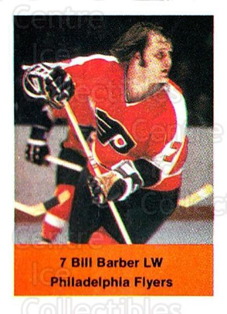 1974-75 NHL Action Stamps #205 Bill Barber<br/>1 In Stock - $3.00 each - <a href=https://centericecollectibles.foxycart.com/cart?name=1974-75%20NHL%20Action%20Stamps%20%23205%20Bill%20Barber...&quantity_max=1&price=$3.00&code=713540 class=foxycart> Buy it now! </a>