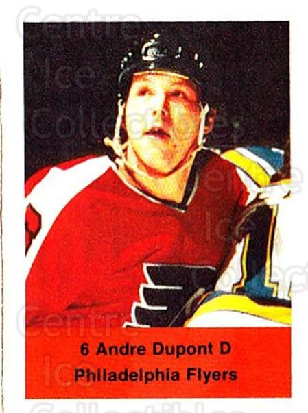 1974-75 NHL Action Stamps #211 Andre Dupont<br/>1 In Stock - $3.00 each - <a href=https://centericecollectibles.foxycart.com/cart?name=1974-75%20NHL%20Action%20Stamps%20%23211%20Andre%20Dupont...&quantity_max=1&price=$3.00&code=713546 class=foxycart> Buy it now! </a>