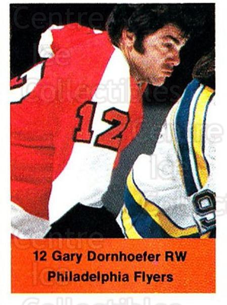 1974-75 NHL Action Stamps #213 Gary Dornhoefer<br/>1 In Stock - $3.00 each - <a href=https://centericecollectibles.foxycart.com/cart?name=1974-75%20NHL%20Action%20Stamps%20%23213%20Gary%20Dornhoefer...&quantity_max=1&price=$3.00&code=713548 class=foxycart> Buy it now! </a>