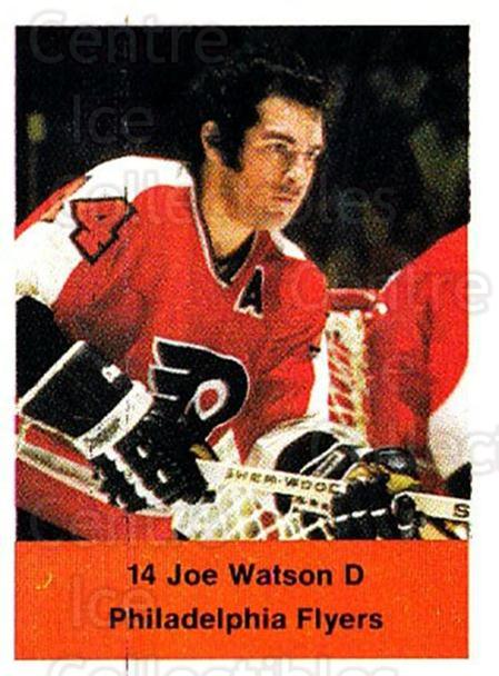 1974-75 NHL Action Stamps #214 Joe Watson<br/>1 In Stock - $3.00 each - <a href=https://centericecollectibles.foxycart.com/cart?name=1974-75%20NHL%20Action%20Stamps%20%23214%20Joe%20Watson...&quantity_max=1&price=$3.00&code=713549 class=foxycart> Buy it now! </a>