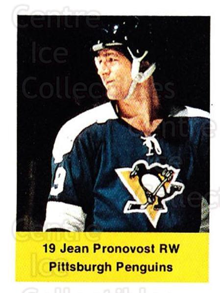 1974-75 NHL Action Stamps #217 Jean Pronovost<br/>1 In Stock - $3.00 each - <a href=https://centericecollectibles.foxycart.com/cart?name=1974-75%20NHL%20Action%20Stamps%20%23217%20Jean%20Pronovost...&quantity_max=1&price=$3.00&code=713552 class=foxycart> Buy it now! </a>