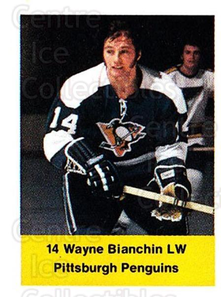 1974-75 NHL Action Stamps #219 Wayne Bianchin<br/>1 In Stock - $3.00 each - <a href=https://centericecollectibles.foxycart.com/cart?name=1974-75%20NHL%20Action%20Stamps%20%23219%20Wayne%20Bianchin...&quantity_max=1&price=$3.00&code=713554 class=foxycart> Buy it now! </a>