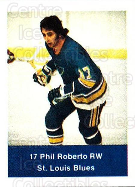 1974-75 NHL Action Stamps #235 Phil Roberto<br/>1 In Stock - $3.00 each - <a href=https://centericecollectibles.foxycart.com/cart?name=1974-75%20NHL%20Action%20Stamps%20%23235%20Phil%20Roberto...&quantity_max=1&price=$3.00&code=713570 class=foxycart> Buy it now! </a>