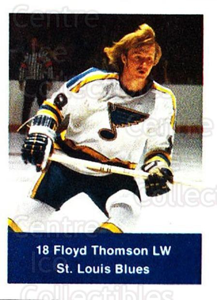 1974-75 NHL Action Stamps #236 Floyd Thomson<br/>1 In Stock - $3.00 each - <a href=https://centericecollectibles.foxycart.com/cart?name=1974-75%20NHL%20Action%20Stamps%20%23236%20Floyd%20Thomson...&quantity_max=1&price=$3.00&code=713571 class=foxycart> Buy it now! </a>