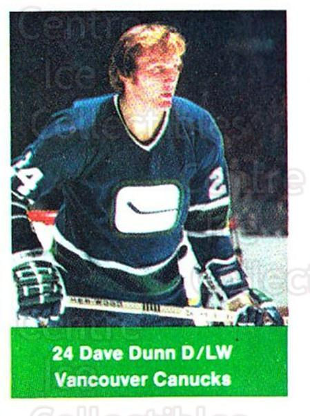 1974-75 NHL Action Stamps #271 Dave Dunn<br/>1 In Stock - $3.00 each - <a href=https://centericecollectibles.foxycart.com/cart?name=1974-75%20NHL%20Action%20Stamps%20%23271%20Dave%20Dunn...&quantity_max=1&price=$3.00&code=713606 class=foxycart> Buy it now! </a>