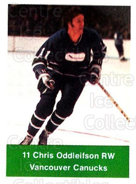 1974-75 NHL Action Stamps #272 Chris Oddleifson<br/>1 In Stock - $3.00 each - <a href=https://centericecollectibles.foxycart.com/cart?name=1974-75%20NHL%20Action%20Stamps%20%23272%20Chris%20Oddleifso...&quantity_max=1&price=$3.00&code=713607 class=foxycart> Buy it now! </a>