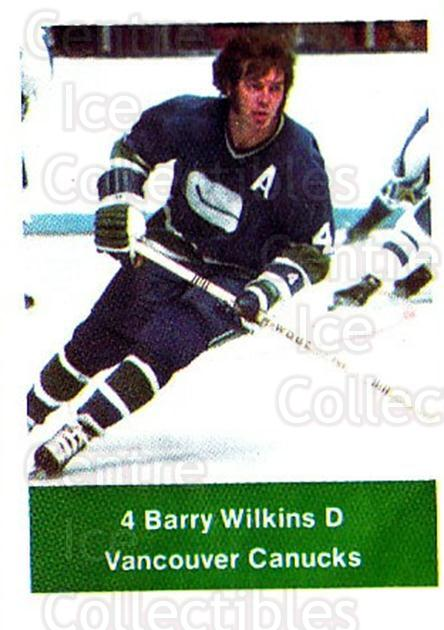 1974-75 NHL Action Stamps #273 Barry Wilkins<br/>1 In Stock - $3.00 each - <a href=https://centericecollectibles.foxycart.com/cart?name=1974-75%20NHL%20Action%20Stamps%20%23273%20Barry%20Wilkins...&quantity_max=1&price=$3.00&code=713608 class=foxycart> Buy it now! </a>