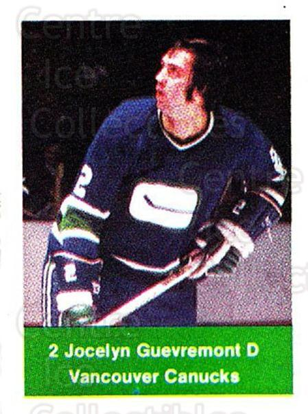 1974-75 NHL Action Stamps #276 Jocelyn Guevremont<br/>1 In Stock - $3.00 each - <a href=https://centericecollectibles.foxycart.com/cart?name=1974-75%20NHL%20Action%20Stamps%20%23276%20Jocelyn%20Guevrem...&quantity_max=1&price=$3.00&code=713611 class=foxycart> Buy it now! </a>