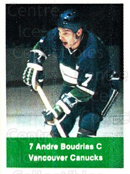 1974-75 NHL Action Stamps #277 Andre Boudrias<br/>1 In Stock - $3.00 each - <a href=https://centericecollectibles.foxycart.com/cart?name=1974-75%20NHL%20Action%20Stamps%20%23277%20Andre%20Boudrias...&quantity_max=1&price=$3.00&code=713612 class=foxycart> Buy it now! </a>