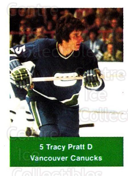 1974-75 NHL Action Stamps #281 Tracy Pratt<br/>1 In Stock - $3.00 each - <a href=https://centericecollectibles.foxycart.com/cart?name=1974-75%20NHL%20Action%20Stamps%20%23281%20Tracy%20Pratt...&quantity_max=1&price=$3.00&code=713616 class=foxycart> Buy it now! </a>