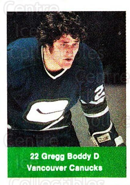 1974-75 NHL Action Stamps #286 Gregg Boddy<br/>1 In Stock - $3.00 each - <a href=https://centericecollectibles.foxycart.com/cart?name=1974-75%20NHL%20Action%20Stamps%20%23286%20Gregg%20Boddy...&quantity_max=1&price=$3.00&code=713621 class=foxycart> Buy it now! </a>