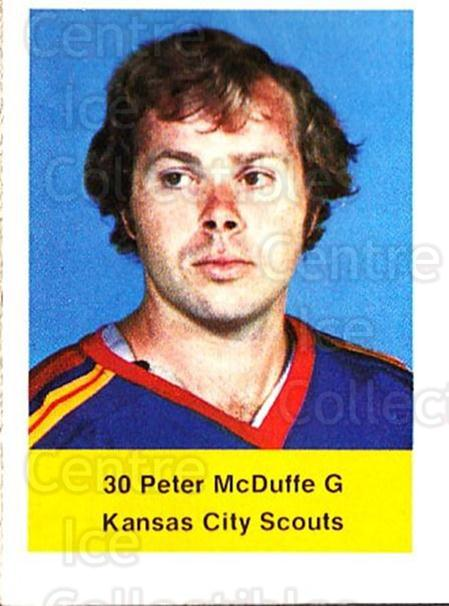 1974-75 NHL Action Stamps #292 Peter McDuffe<br/>1 In Stock - $3.00 each - <a href=https://centericecollectibles.foxycart.com/cart?name=1974-75%20NHL%20Action%20Stamps%20%23292%20Peter%20McDuffe...&quantity_max=1&price=$3.00&code=713627 class=foxycart> Buy it now! </a>