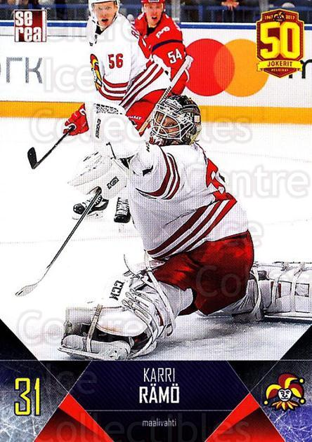 2017-18 Finnish Jokerit Helsinki Sereal #B03 Karri Ramo<br/>6 In Stock - $2.00 each - <a href=https://centericecollectibles.foxycart.com/cart?name=2017-18%20Finnish%20Jokerit%20Helsinki%20Sereal%20%23B03%20Karri%20Ramo...&quantity_max=6&price=$2.00&code=713662 class=foxycart> Buy it now! </a>