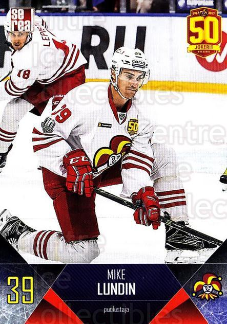 2017-18 Finnish Jokerit Helsinki Sereal #B09 Mike Lundin<br/>6 In Stock - $2.00 each - <a href=https://centericecollectibles.foxycart.com/cart?name=2017-18%20Finnish%20Jokerit%20Helsinki%20Sereal%20%23B09%20Mike%20Lundin...&quantity_max=6&price=$2.00&code=713668 class=foxycart> Buy it now! </a>