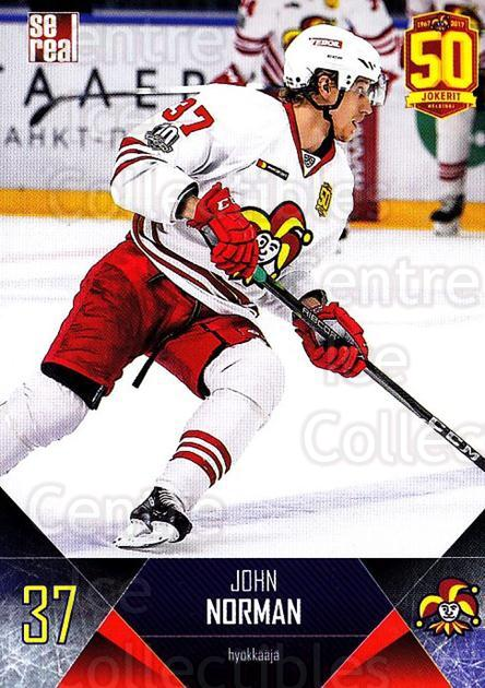 2017-18 Finnish Jokerit Helsinki Sereal #B23 John Norman<br/>7 In Stock - $2.00 each - <a href=https://centericecollectibles.foxycart.com/cart?name=2017-18%20Finnish%20Jokerit%20Helsinki%20Sereal%20%23B23%20John%20Norman...&quantity_max=7&price=$2.00&code=713682 class=foxycart> Buy it now! </a>