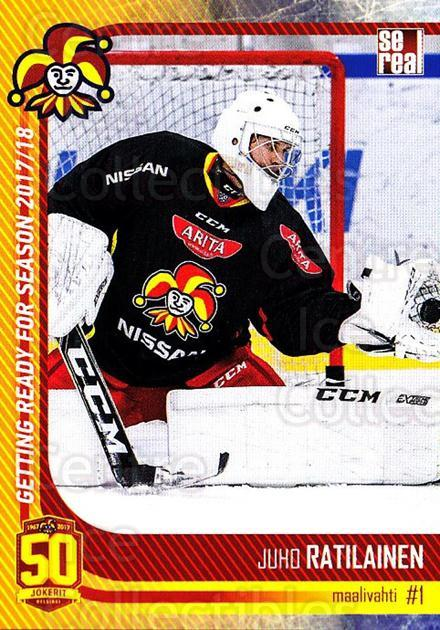2017-18 Finnish Jokerit Helsinki Sereal #G01 Juho Ratilainen<br/>8 In Stock - $2.00 each - <a href=https://centericecollectibles.foxycart.com/cart?name=2017-18%20Finnish%20Jokerit%20Helsinki%20Sereal%20%23G01%20Juho%20Ratilainen...&quantity_max=8&price=$2.00&code=713693 class=foxycart> Buy it now! </a>