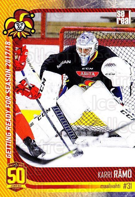 2017-18 Finnish Jokerit Helsinki Sereal #G03 Karri Ramo<br/>8 In Stock - $2.00 each - <a href=https://centericecollectibles.foxycart.com/cart?name=2017-18%20Finnish%20Jokerit%20Helsinki%20Sereal%20%23G03%20Karri%20Ramo...&quantity_max=8&price=$2.00&code=713695 class=foxycart> Buy it now! </a>