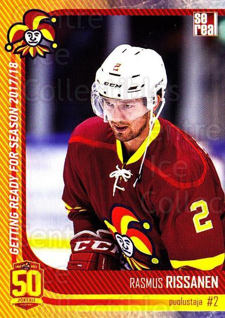 2017-18 Finnish Jokerit Helsinki Sereal #G04 Rasmus Rissanen<br/>6 In Stock - $2.00 each - <a href=https://centericecollectibles.foxycart.com/cart?name=2017-18%20Finnish%20Jokerit%20Helsinki%20Sereal%20%23G04%20Rasmus%20Rissanen...&quantity_max=6&price=$2.00&code=713696 class=foxycart> Buy it now! </a>