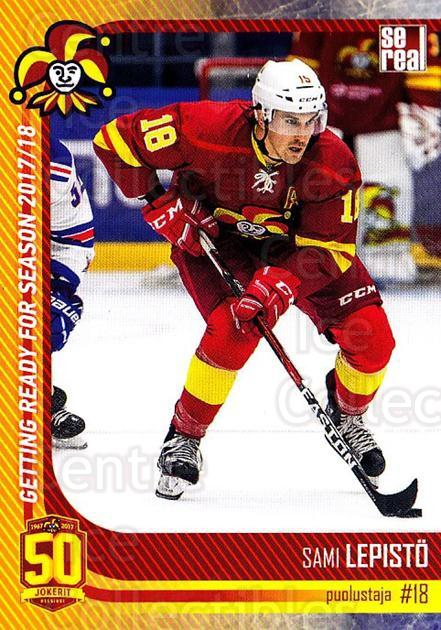 2017-18 Finnish Jokerit Helsinki Sereal #G08 Sami Lepisto<br/>8 In Stock - $2.00 each - <a href=https://centericecollectibles.foxycart.com/cart?name=2017-18%20Finnish%20Jokerit%20Helsinki%20Sereal%20%23G08%20Sami%20Lepisto...&quantity_max=8&price=$2.00&code=713700 class=foxycart> Buy it now! </a>