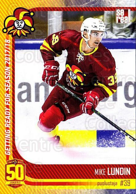 2017-18 Finnish Jokerit Helsinki Sereal #G09 Mike Lundin<br/>8 In Stock - $2.00 each - <a href=https://centericecollectibles.foxycart.com/cart?name=2017-18%20Finnish%20Jokerit%20Helsinki%20Sereal%20%23G09%20Mike%20Lundin...&quantity_max=8&price=$2.00&code=713701 class=foxycart> Buy it now! </a>
