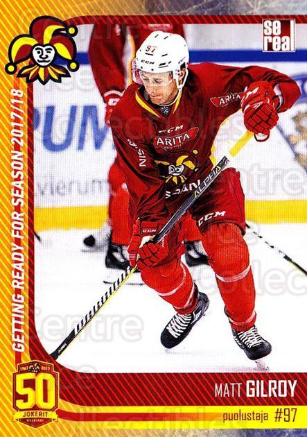 2017-18 Finnish Jokerit Helsinki Sereal #G12 Matt Gilroy<br/>8 In Stock - $2.00 each - <a href=https://centericecollectibles.foxycart.com/cart?name=2017-18%20Finnish%20Jokerit%20Helsinki%20Sereal%20%23G12%20Matt%20Gilroy...&quantity_max=8&price=$2.00&code=713704 class=foxycart> Buy it now! </a>