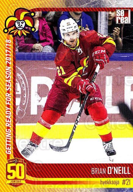 2017-18 Finnish Jokerit Helsinki Sereal #G19 Brian O'neill<br/>8 In Stock - $2.00 each - <a href=https://centericecollectibles.foxycart.com/cart?name=2017-18%20Finnish%20Jokerit%20Helsinki%20Sereal%20%23G19%20Brian%20O'neill...&quantity_max=8&price=$2.00&code=713711 class=foxycart> Buy it now! </a>