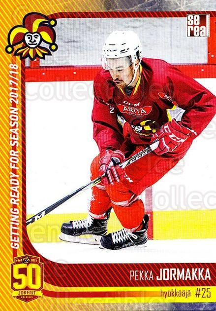 2017-18 Finnish Jokerit Helsinki Sereal #G21 Pekka Jormakka<br/>7 In Stock - $2.00 each - <a href=https://centericecollectibles.foxycart.com/cart?name=2017-18%20Finnish%20Jokerit%20Helsinki%20Sereal%20%23G21%20Pekka%20Jormakka...&quantity_max=7&price=$2.00&code=713713 class=foxycart> Buy it now! </a>