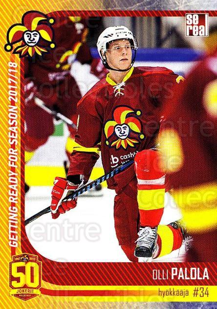 2017-18 Finnish Jokerit Helsinki Sereal #G22 Olli Palola<br/>8 In Stock - $2.00 each - <a href=https://centericecollectibles.foxycart.com/cart?name=2017-18%20Finnish%20Jokerit%20Helsinki%20Sereal%20%23G22%20Olli%20Palola...&quantity_max=8&price=$2.00&code=713714 class=foxycart> Buy it now! </a>