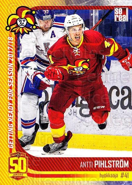 2017-18 Finnish Jokerit Helsinki Sereal #G24 Antti Pihlstrom<br/>8 In Stock - $2.00 each - <a href=https://centericecollectibles.foxycart.com/cart?name=2017-18%20Finnish%20Jokerit%20Helsinki%20Sereal%20%23G24%20Antti%20Pihlstrom...&quantity_max=8&price=$2.00&code=713716 class=foxycart> Buy it now! </a>