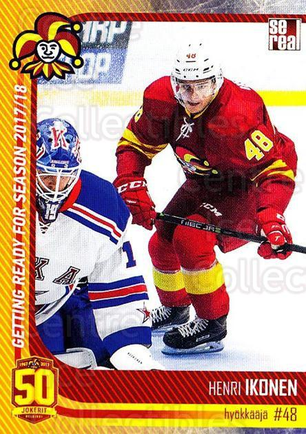 2017-18 Finnish Jokerit Helsinki Sereal #G25 Henri Ikonen<br/>7 In Stock - $2.00 each - <a href=https://centericecollectibles.foxycart.com/cart?name=2017-18%20Finnish%20Jokerit%20Helsinki%20Sereal%20%23G25%20Henri%20Ikonen...&quantity_max=7&price=$2.00&code=713717 class=foxycart> Buy it now! </a>