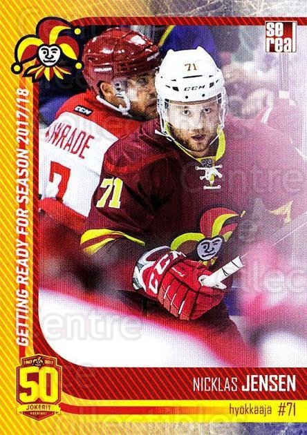 2017-18 Finnish Jokerit Helsinki Sereal #G27 Nicklas Jensen<br/>7 In Stock - $2.00 each - <a href=https://centericecollectibles.foxycart.com/cart?name=2017-18%20Finnish%20Jokerit%20Helsinki%20Sereal%20%23G27%20Nicklas%20Jensen...&quantity_max=7&price=$2.00&code=713719 class=foxycart> Buy it now! </a>