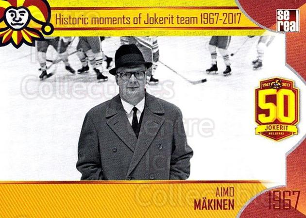 2017-18 Finnish Jokerit Helsinki Sereal #H01 Aimo Makinen<br/>8 In Stock - $2.00 each - <a href=https://centericecollectibles.foxycart.com/cart?name=2017-18%20Finnish%20Jokerit%20Helsinki%20Sereal%20%23H01%20Aimo%20Makinen...&quantity_max=8&price=$2.00&code=713721 class=foxycart> Buy it now! </a>