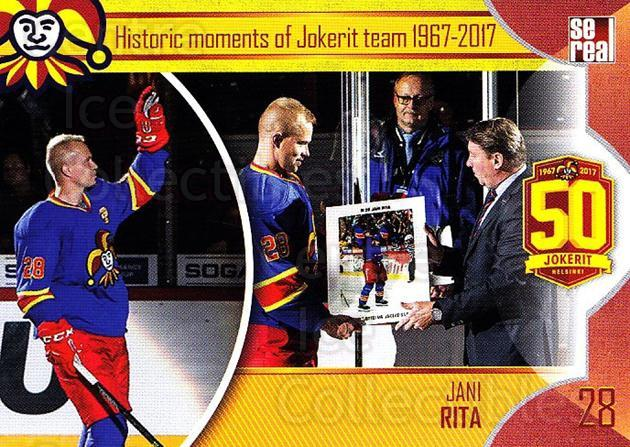 2017-18 Finnish Jokerit Helsinki Sereal #H18 Jani Rita<br/>8 In Stock - $2.00 each - <a href=https://centericecollectibles.foxycart.com/cart?name=2017-18%20Finnish%20Jokerit%20Helsinki%20Sereal%20%23H18%20Jani%20Rita...&quantity_max=8&price=$2.00&code=713738 class=foxycart> Buy it now! </a>