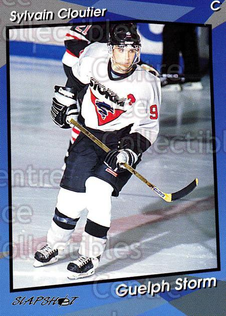 1993-94 Guelph Storm #9 Sylvain Cloutier<br/>1 In Stock - $3.00 each - <a href=https://centericecollectibles.foxycart.com/cart?name=1993-94%20Guelph%20Storm%20%239%20Sylvain%20Cloutie...&quantity_max=1&price=$3.00&code=7137 class=foxycart> Buy it now! </a>