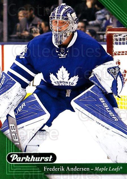 2017-18 Parkhurst #215 Frederik Andersen<br/>1 In Stock - $2.00 each - <a href=https://centericecollectibles.foxycart.com/cart?name=2017-18%20Parkhurst%20%23215%20Frederik%20Anders...&quantity_max=1&price=$2.00&code=713969 class=foxycart> Buy it now! </a>