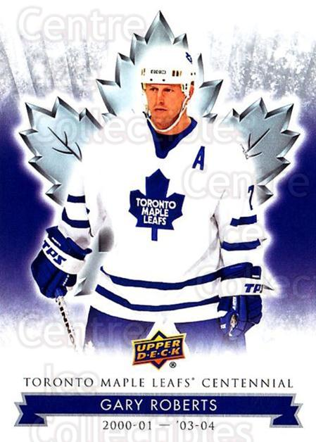 2017-18 Toronto Maple Leafs Centennial #43 Gary Roberts<br/>2 In Stock - $2.00 each - <a href=https://centericecollectibles.foxycart.com/cart?name=2017-18%20Toronto%20Maple%20Leafs%20Centennial%20%2343%20Gary%20Roberts...&quantity_max=2&price=$2.00&code=714097 class=foxycart> Buy it now! </a>