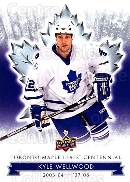 2017-18 Toronto Maple Leafs Centennial #85 Kyle Wellwood<br/>7 In Stock - $2.00 each - <a href=https://centericecollectibles.foxycart.com/cart?name=2017-18%20Toronto%20Maple%20Leafs%20Centennial%20%2385%20Kyle%20Wellwood...&quantity_max=7&price=$2.00&code=714139 class=foxycart> Buy it now! </a>