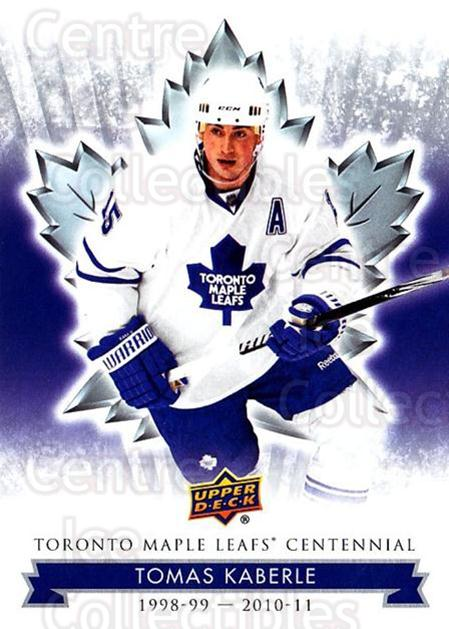 2017-18 Toronto Maple Leafs Centennial #97 Tomas Kaberle<br/>7 In Stock - $2.00 each - <a href=https://centericecollectibles.foxycart.com/cart?name=2017-18%20Toronto%20Maple%20Leafs%20Centennial%20%2397%20Tomas%20Kaberle...&quantity_max=7&price=$2.00&code=714151 class=foxycart> Buy it now! </a>