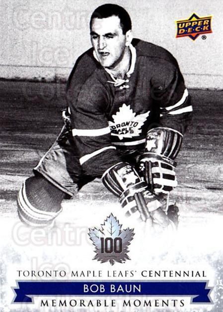 2017-18 Toronto Maple Leafs Centennial #177 Bob Baun<br/>8 In Stock - $2.00 each - <a href=https://centericecollectibles.foxycart.com/cart?name=2017-18%20Toronto%20Maple%20Leafs%20Centennial%20%23177%20Bob%20Baun...&price=$2.00&code=714231 class=foxycart> Buy it now! </a>