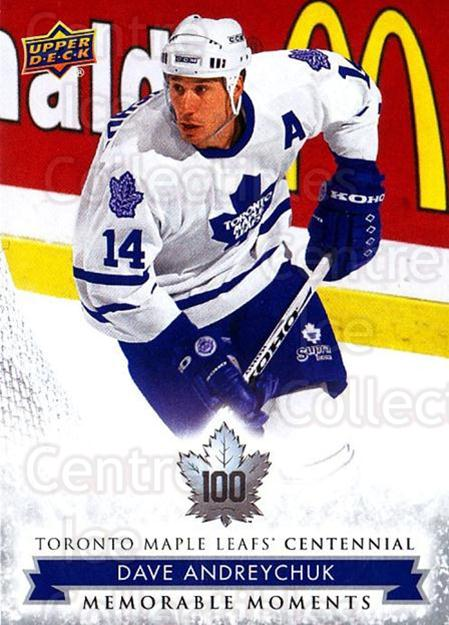 2017-18 Toronto Maple Leafs Centennial #193 Dave Andreychuk<br/>3 In Stock - $2.00 each - <a href=https://centericecollectibles.foxycart.com/cart?name=2017-18%20Toronto%20Maple%20Leafs%20Centennial%20%23193%20Dave%20Andreychuk...&quantity_max=3&price=$2.00&code=714247 class=foxycart> Buy it now! </a>