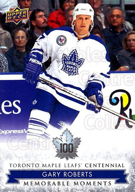 2017-18 Toronto Maple Leafs Centennial #194 Gary Roberts<br/>3 In Stock - $2.00 each - <a href=https://centericecollectibles.foxycart.com/cart?name=2017-18%20Toronto%20Maple%20Leafs%20Centennial%20%23194%20Gary%20Roberts...&quantity_max=3&price=$2.00&code=714248 class=foxycart> Buy it now! </a>