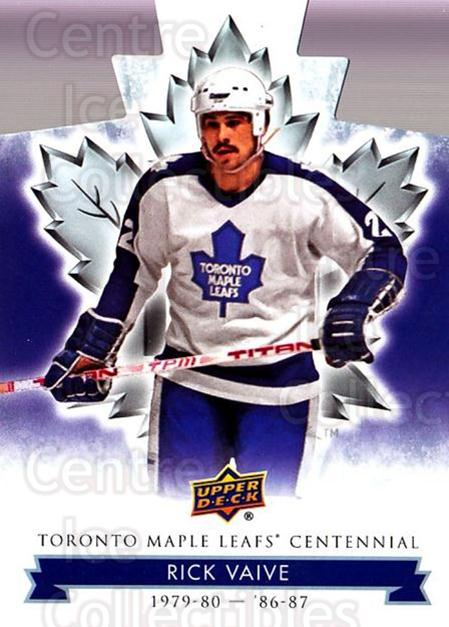 2017-18 Toronto Maple Leafs Centennial Die Cut #1 Rick Vaive<br/>3 In Stock - $3.00 each - <a href=https://centericecollectibles.foxycart.com/cart?name=2017-18%20Toronto%20Maple%20Leafs%20Centennial%20Die%20Cut%20%231%20Rick%20Vaive...&quantity_max=3&price=$3.00&code=714255 class=foxycart> Buy it now! </a>