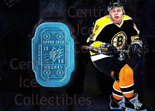 1998-99 SPx Finite #5 Sergei Samsonov<br/>3 In Stock - $1.00 each - <a href=https://centericecollectibles.foxycart.com/cart?name=1998-99%20SPx%20Finite%20%235%20Sergei%20Samsonov...&quantity_max=3&price=$1.00&code=71428 class=foxycart> Buy it now! </a>
