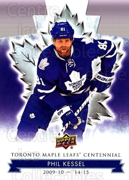 2017-18 Toronto Maple Leafs Centennial Die Cut #39 Phil Kessel<br/>9 In Stock - $3.00 each - <a href=https://centericecollectibles.foxycart.com/cart?name=2017-18%20Toronto%20Maple%20Leafs%20Centennial%20Die%20Cut%20%2339%20Phil%20Kessel...&quantity_max=9&price=$3.00&code=714293 class=foxycart> Buy it now! </a>