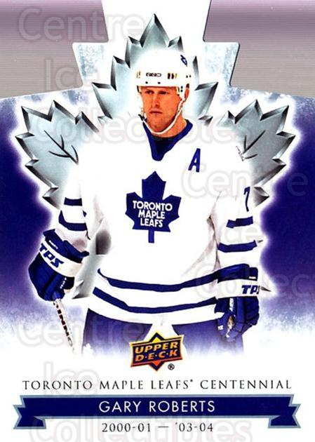 2017-18 Toronto Maple Leafs Centennial Die Cut #43 Gary Roberts<br/>6 In Stock - $3.00 each - <a href=https://centericecollectibles.foxycart.com/cart?name=2017-18%20Toronto%20Maple%20Leafs%20Centennial%20Die%20Cut%20%2343%20Gary%20Roberts...&quantity_max=6&price=$3.00&code=714297 class=foxycart> Buy it now! </a>